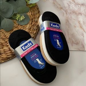 Lot of 2 - NWT - Keds no show liner socks- Sz 4-10